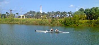 Kayaking Fotografie Stock