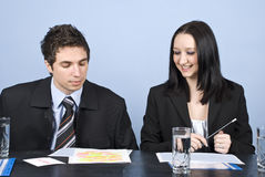 Due genti di affari di riunione Immagini Stock