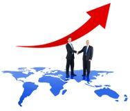 Due genti di affari e tendenze di affari globali Fotografie Stock