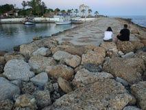 Due gies cari il tramonto Fotografia Stock