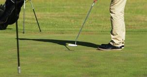 Due giocatori del giocatore di golf che giocano insieme golf stock footage