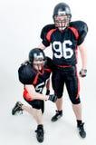 Due giocatori di football americano immagine stock libera da diritti