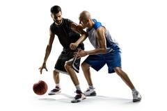 Due giocatori di pallacanestro nell'azione fotografie stock