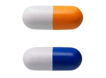 Due giocattoli anti-stress a forma di della pillola Immagine Stock