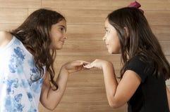 Due giovani amici immagini stock