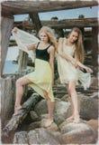 Due giovani belle ragazze. Immagine Stock
