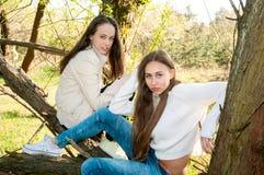 Due giovani belle ragazze Fotografia Stock