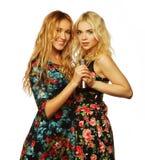 Due giovani migliori amici delle ragazze dei pantaloni a vita bassa Fotografia Stock