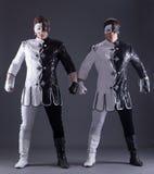 Due giovani tiranti in costumi del teatro Immagine Stock Libera da Diritti