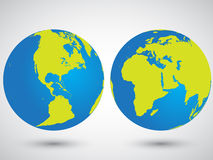 Due globi Fotografia Stock