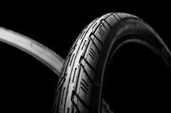 Due gomme della bicicletta fotografia stock