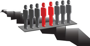 Due gruppi in una riunione Fotografia Stock