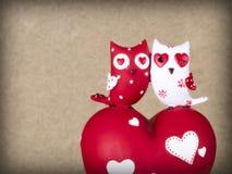 Due gufi di ceramica Immagini Stock
