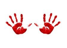 Due handprints Fotografia Stock Libera da Diritti