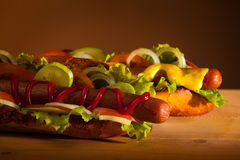 Due hot dog Immagini Stock Libere da Diritti