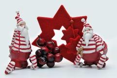 Due il Babbo Natale Immagini Stock