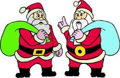 Due il Babbo Natale Immagine Stock