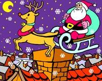 Due il Babbo Natale Fotografia Stock