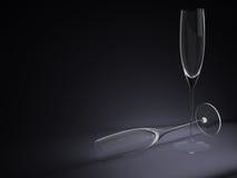 Due illustrazione dei bicchieri di vino 3D illustrazione di stock