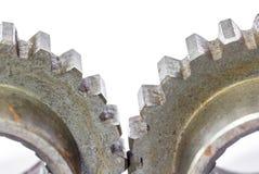 Due ingranaggi del dente del metallo Immagine Stock Libera da Diritti