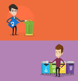 Due insegne ecologiche con spazio per testo Immagine Stock