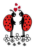 Due ladybugs Immagini Stock Libere da Diritti