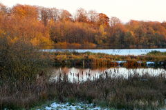 Due laghi nel paesaggio di inverno Fotografia Stock Libera da Diritti