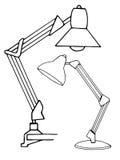 Due lampade di lettura isolate su fondo bianco Illustrazione di vettore in uno stile di schizzo Fotografia Stock Libera da Diritti