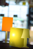 Due lampade illuminate Fotografia Stock