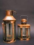Due lanterne arrugginite Fotografie Stock