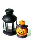 Due lanterne di Halloween Fotografia Stock Libera da Diritti