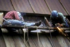 Due lavoratori dell'industria siderurgica Fotografia Stock