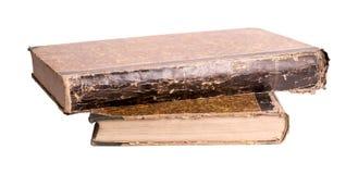 Due libri antichi su un fondo bianco Fotografia Stock Libera da Diritti