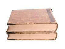 Due libri antichi su un fondo bianco Immagini Stock Libere da Diritti