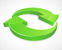 Due logos circolari delle frecce 3D Immagini Stock