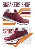 Due logotypes delle scarpe da tennis Fotografia Stock Libera da Diritti