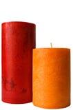 Due lumi di candela Immagini Stock
