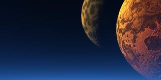 Due lune Fotografie Stock Libere da Diritti