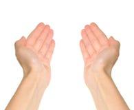 Due mani fotografia stock