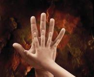 Due mani Fotografia Stock Libera da Diritti