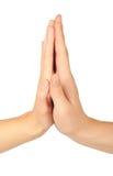 Due mani che si danno gli alti cinque Fotografia Stock Libera da Diritti