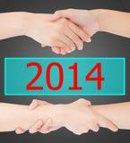 Due mani della donna del 2014 Fotografie Stock