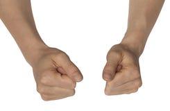 Due mani femminili Immagini Stock