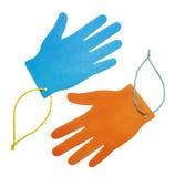Due mani multicolori Immagine Stock