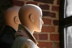 Due mannequins immagine stock