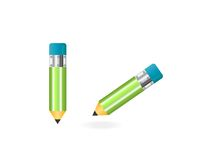 Due matite su bianco Immagini Stock