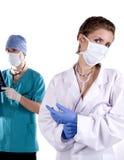 Due medici immagine stock