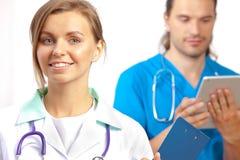 Due medici felici Immagine Stock