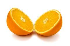 Due metà di un arancio Fotografia Stock Libera da Diritti