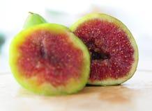 Due metà di una frutta del fico Fotografia Stock Libera da Diritti